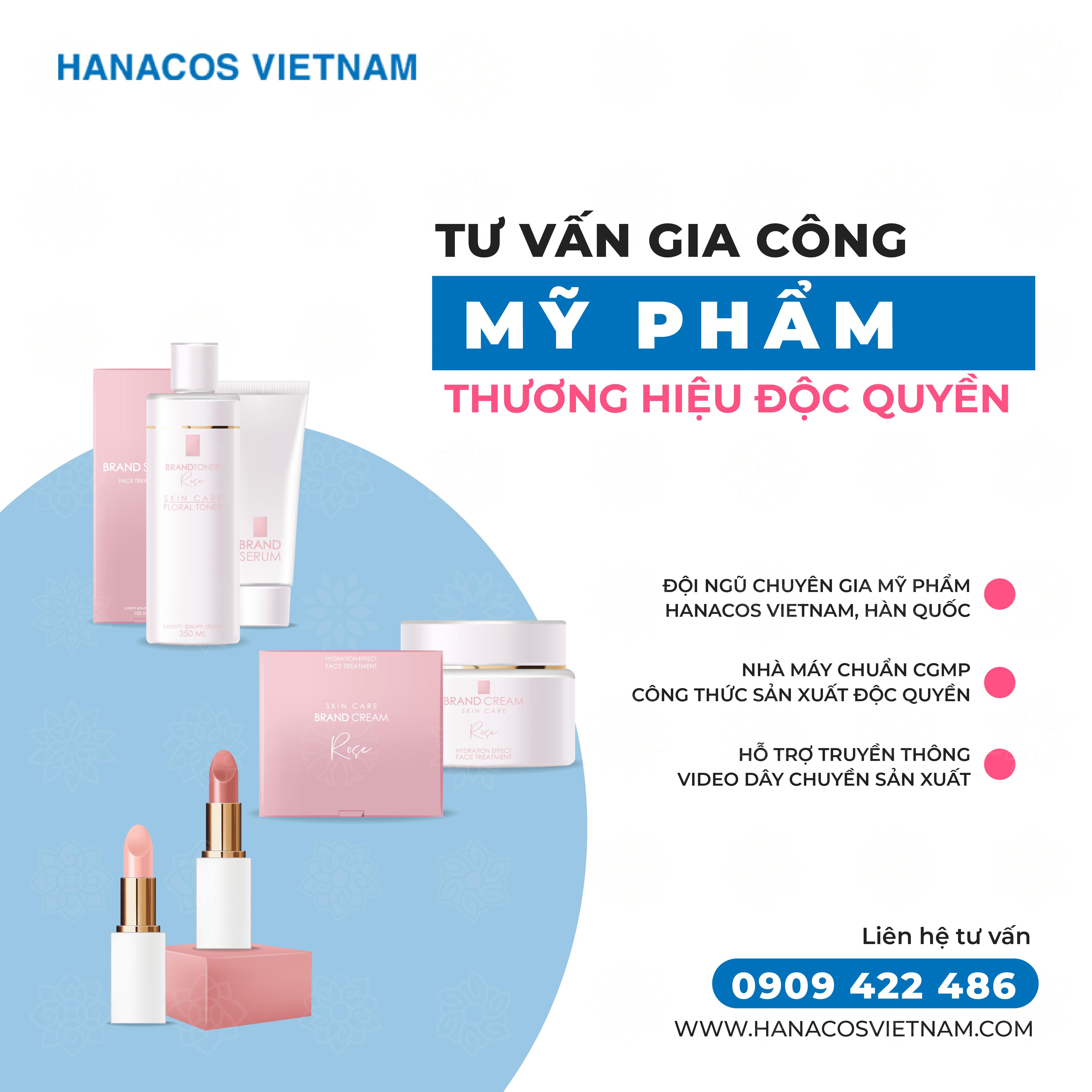 Hanacos Vietnam - gia công mỹ phẩm chất lượng theo yêu cầu